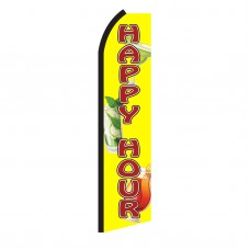 Happy Hour Yellow & Red Swooper Flag