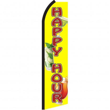 Happy Hour Yellow Swooper Flag