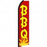 BBQ Red Yellow Swooper Flag