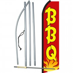 BBQ Red & Yellow Swooper Flag Bundle