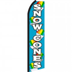 Snow Cones Blue Swooper Flag