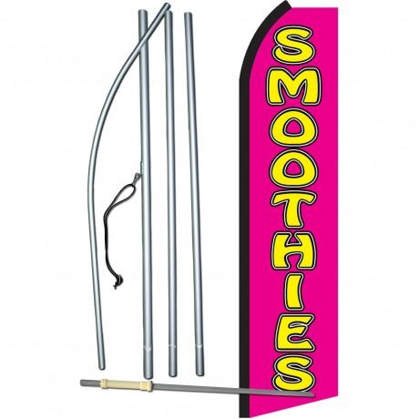 Smoothies Pink & Yellow Swooper Flag Bundle