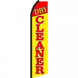 Dry Cleaner Yellow Swooper Flag