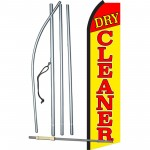 Dry Cleaner Yellow Swooper Flag Bundle