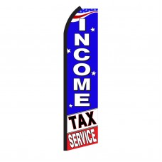Income Tax Service B/W Swooper Flag