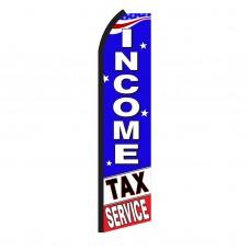 Income Tax Service B/W Swooper Flag