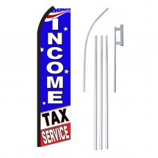 Income Tax Service B/W Swooper Flag Bundle