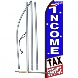 Income Tax Service Patriotic Swooper Flag Bundle