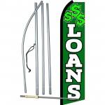 Loans Green & White Swooper Flag Bundle
