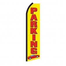 Parking Red Car Swooper Flag