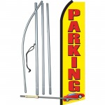 Parking Red Car Swooper Flag Bundle