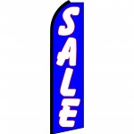 Sale Blue Red Outline Swooper Flag