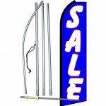 Sale Blue & White Swooper Flag Bundle
