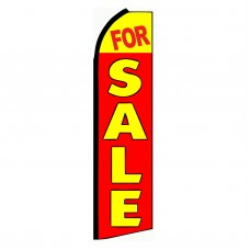 For Sale Red & Yellow Extra Wide Swooper Flag