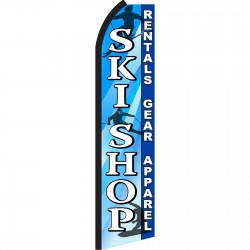 Ski Shop Blue & White Swooper Flag