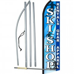 Ski Shop Blue & White Swooper Flag Bundle