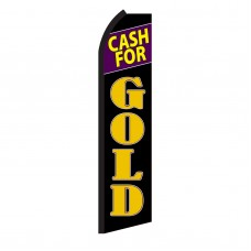 Cash For Gold Black Swooper Flag