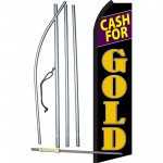 Cash For Gold Black Swooper Flag Bundle