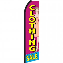 Clothing Sale Swooper Flag