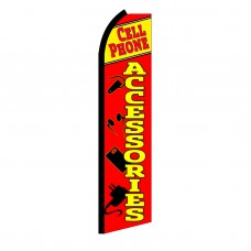 Cell Phone Accessories Red Swooper Flag
