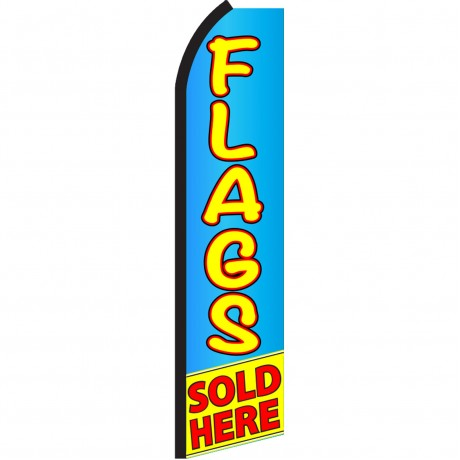 Flags Sold Here Blue Yellow Swooper Flag