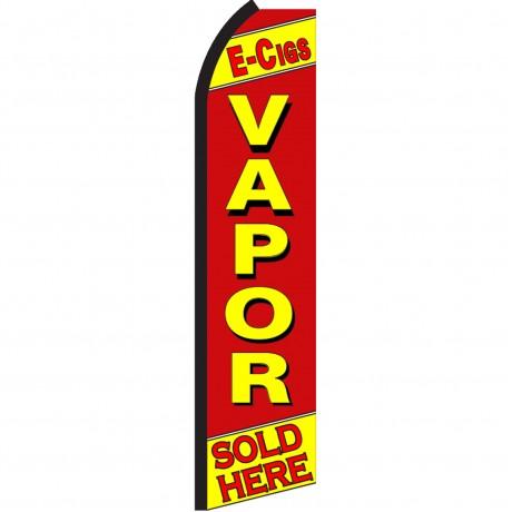 E-Cigs Vapor Swooper Flag