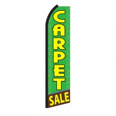 Carpet Sale Green Swooper Flag