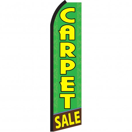 Carpet Sale Green Swooper Flag