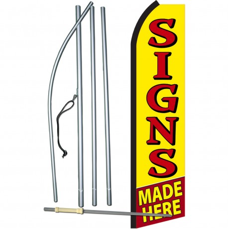 Signs Made Here Swooper Flag Bundle