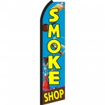 Smoke Shop Blue Swooper Flag