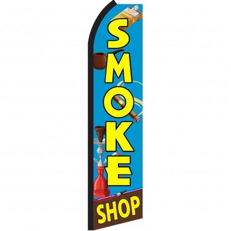 Smoke Shop Blue Swooper Flag