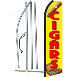 Cigars Yellow & Red Swooper Flag Bundle
