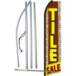 Tile Sale Brown & Yellow Swooper Flag Bundle