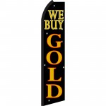 We Buy Gold Blk & Gold Swooper Flag