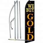 We Buy Gold Blk & Gold Swooper Flag Bundle