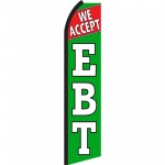 We Accept EBT Green Swooper Flag