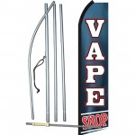 Vape Shop Blue Swooper Flag Bundle