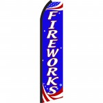 Fireworks Red, White & Blue Swooper Flag