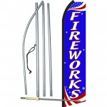 Fireworks Red, White & Blue Swooper Flag Bundle