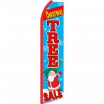 Christmas Tree Sale Blue Swooper Flag