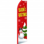 Seasons Greetings Red Swooper Flag