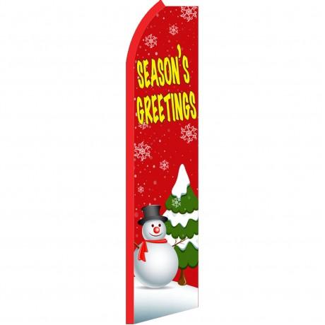 Seasons Greetings Red Swooper Flag