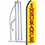 Insurance Yellow Swooper Flag Bundle