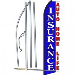 Insurance Auto Home Life Blue Swooper Flag Bundle