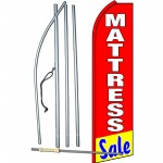 Mattress Sale Red Swooper Flag Bundle