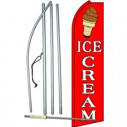 Ice Cream Red & White Swooper Flag Bundle