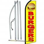 Burgers Yellow Swooper Flag Bundle