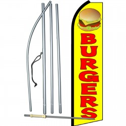 Burgers Yellow Swooper Flag Bundle