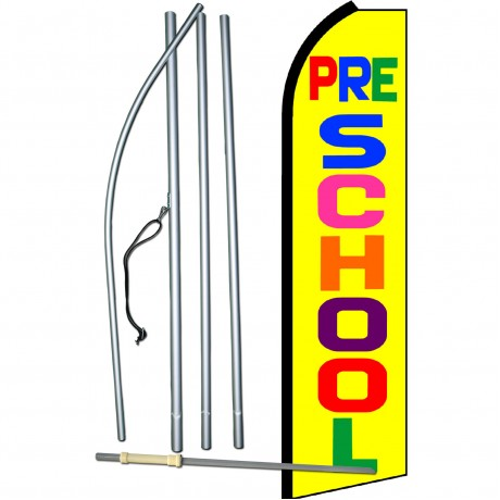 Pre-School Yellow Swooper Flag Bundle