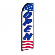 Open Stars & Stripes Swooper Flag